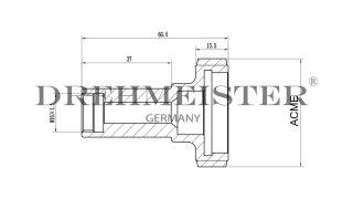 DREHMEISTER ACME LPG Adapter M16 Innengewinde - 60,5mm