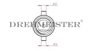 DREHMEISTER baïonnette adaptateur GPL 10mm, en laiton