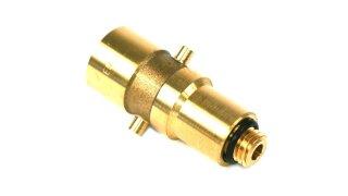 DREHMEISTER adattore serbatoio Bajonett 14mm, ottone