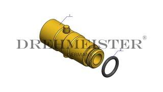 DREHMEISTER adaptateur baïonnette Ø22mm (W21,8), en laiton