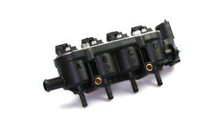Landi Renzo iniettore MED GPL metano 4 cilindri GI25-65 NERO con sensore (vecchio design a 4 fori)