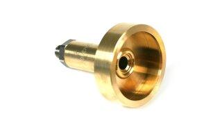 DREHMEISTER adaptateur DISH 10mm court en laiton avec connecteur en acier (L=67mm)