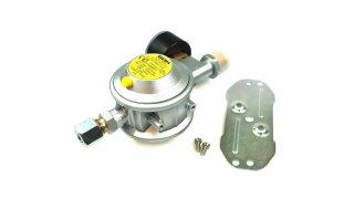 GOK regolatore di bassa pressione 30 mbar 1,5 kg/h dritto 8 mm incl. manometro