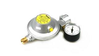 GOK low pressure regulator 30 mbar 1,2 kg/h - for small bottles incl. manometer
