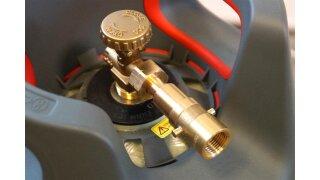 DREHMEISTER Adaptateur baïonnette avec raccord pour remplissage de bouteille de gaz, filetage W21.8L