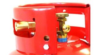 Adattatore per rifornimento diretto della bombola del gas G 3/4 UNF su 21.8 L=52 mm