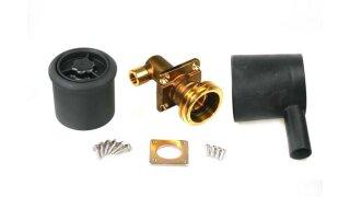 Kit de boquilla de suministro ACME incl. carcasa de plástico para tubería de cobre de 8mm - 90°
